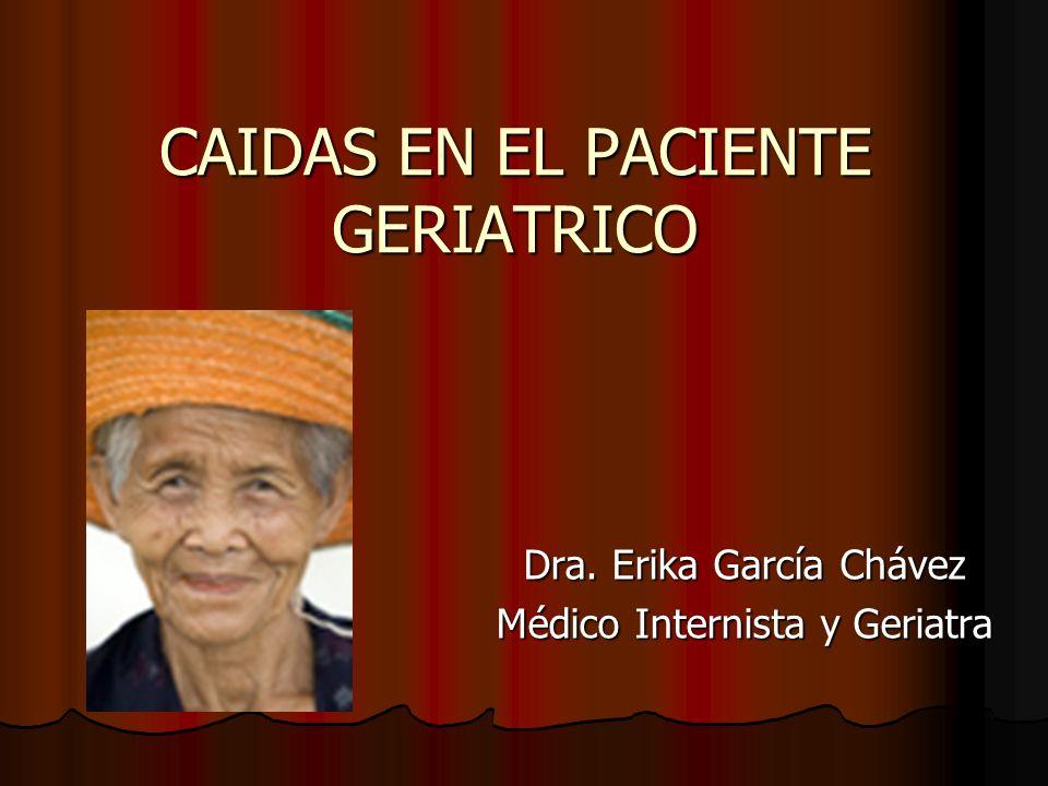 CAIDAS EN EL PACIENTE GERIATRICO