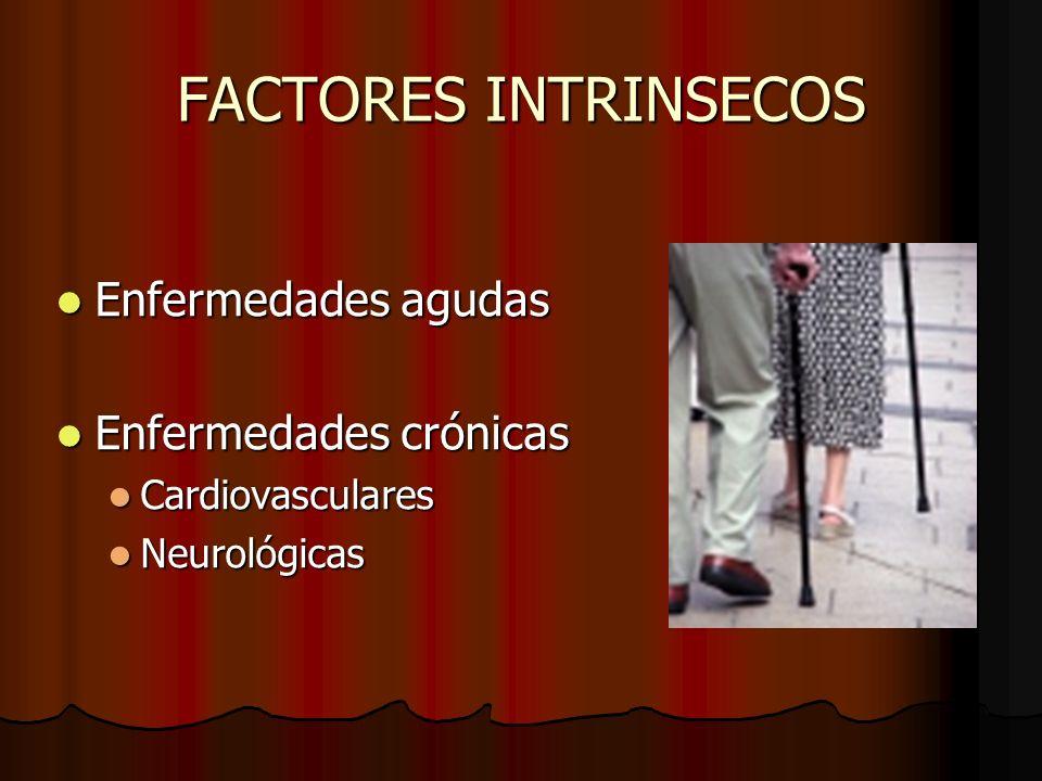 FACTORES INTRINSECOS Enfermedades agudas Enfermedades crónicas