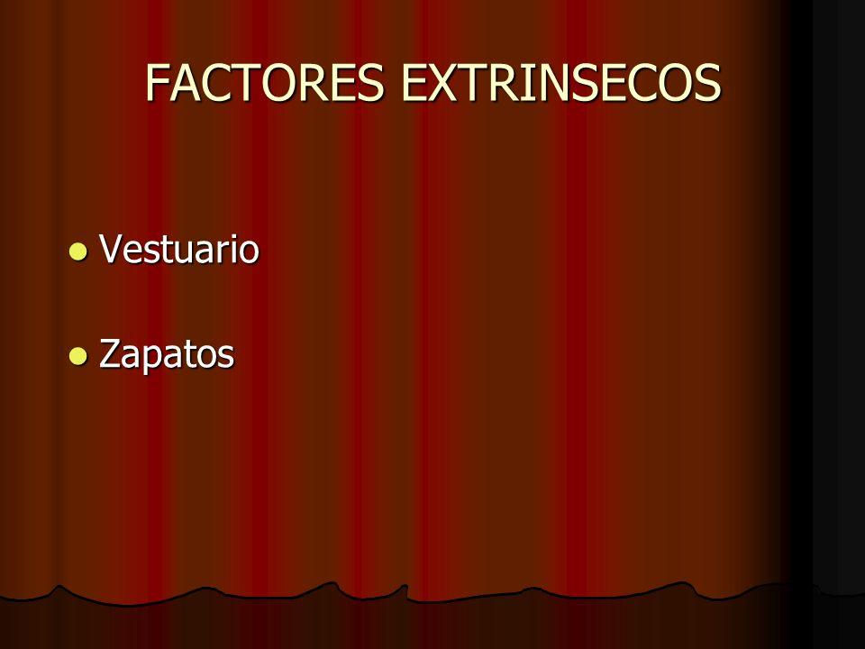 FACTORES EXTRINSECOS Vestuario Zapatos