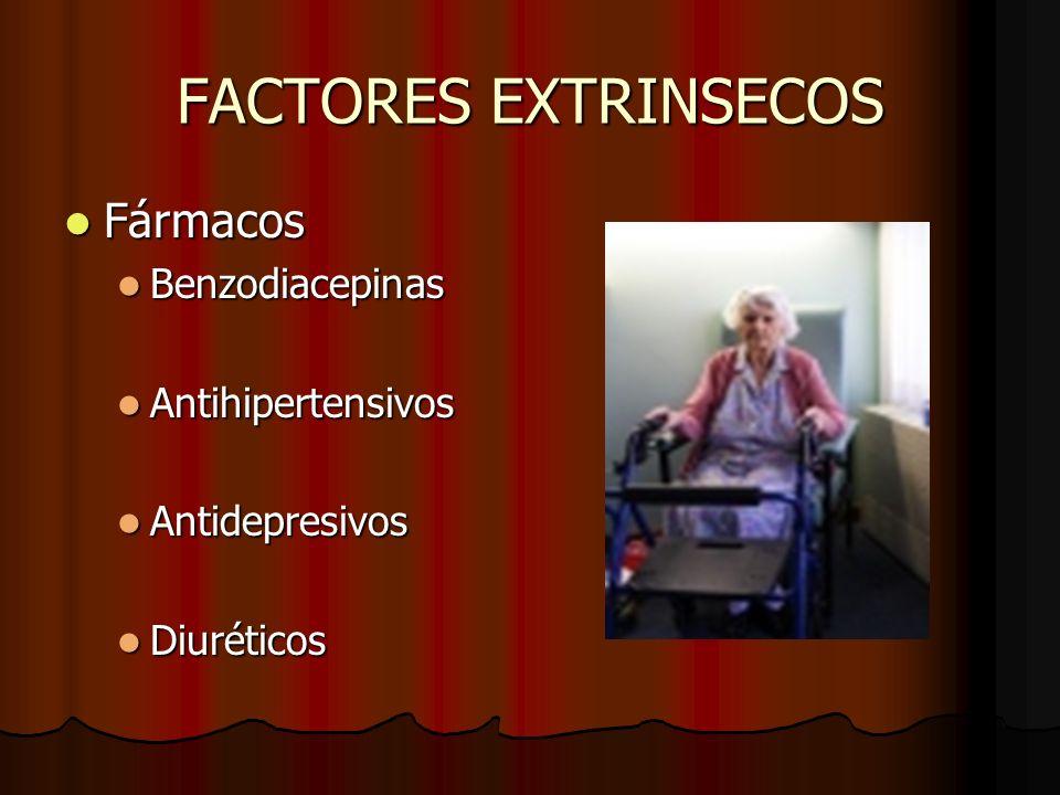 FACTORES EXTRINSECOS Fármacos Benzodiacepinas Antihipertensivos