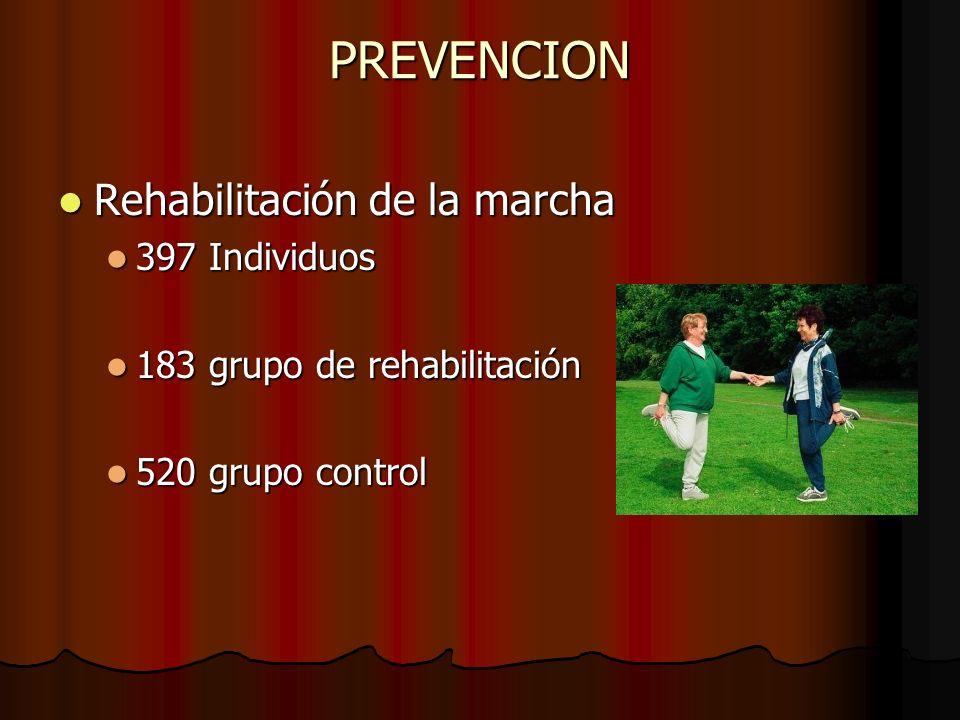 PREVENCION Rehabilitación de la marcha 397 Individuos