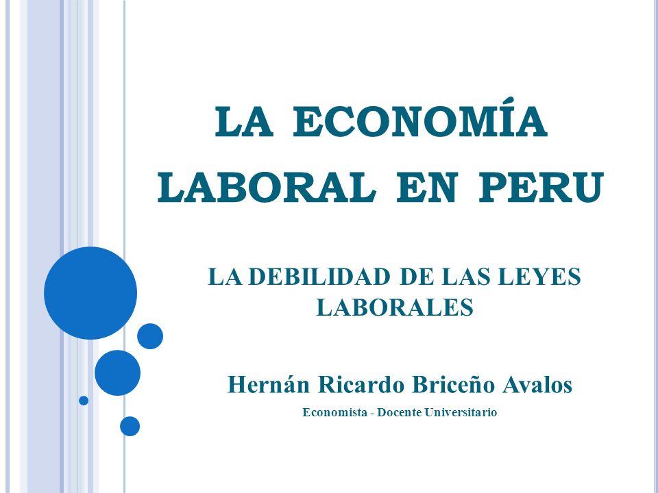 la economía laboral en peru