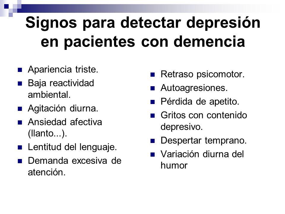 Signos para detectar depresión en pacientes con demencia