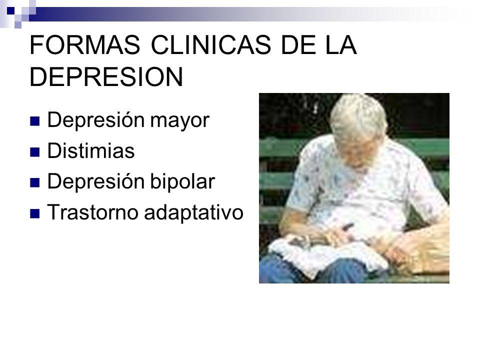 FORMAS CLINICAS DE LA DEPRESION