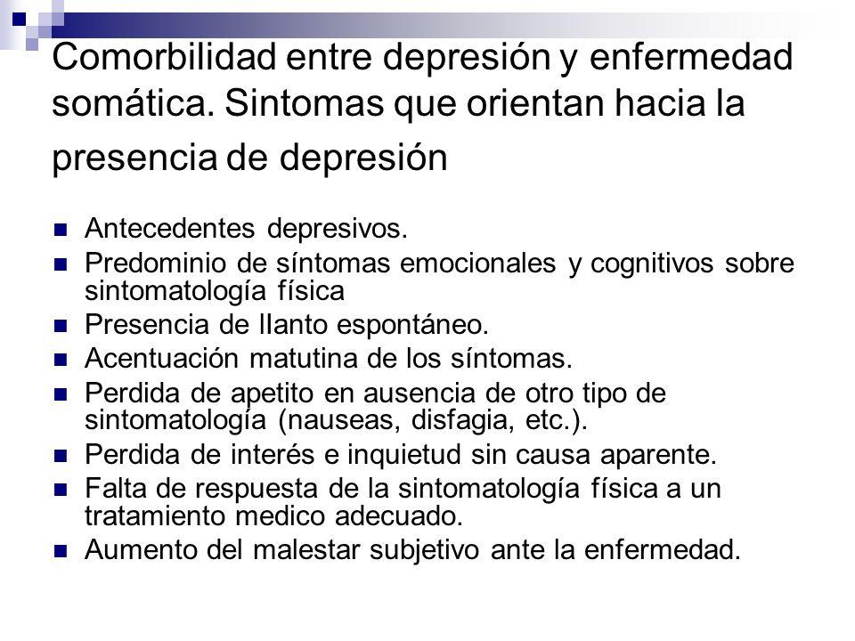 Comorbilidad entre depresión y enfermedad somática