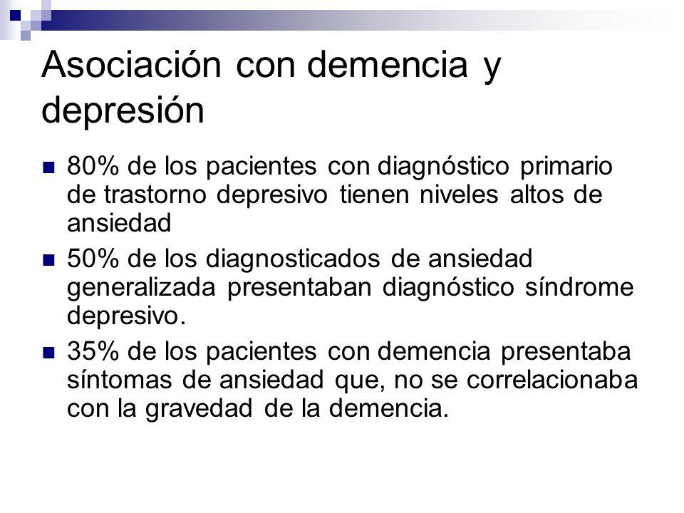 Asociación con demencia y depresión