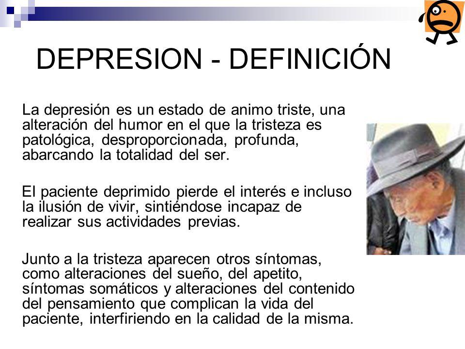 DEPRESION - DEFINICIÓN
