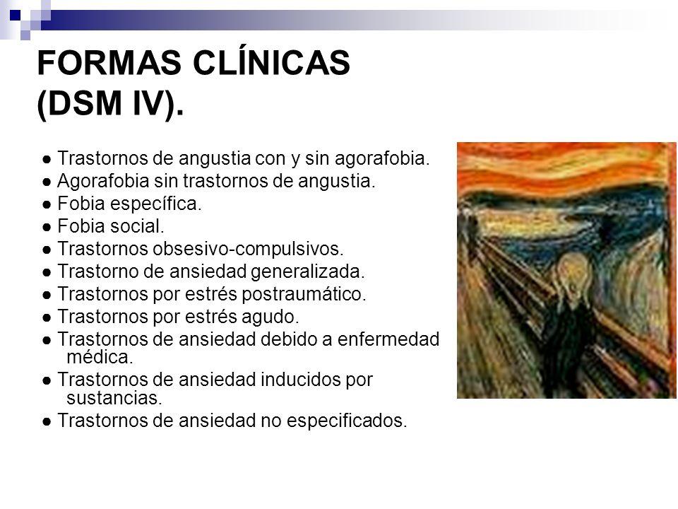 FORMAS CLÍNICAS (DSM IV).