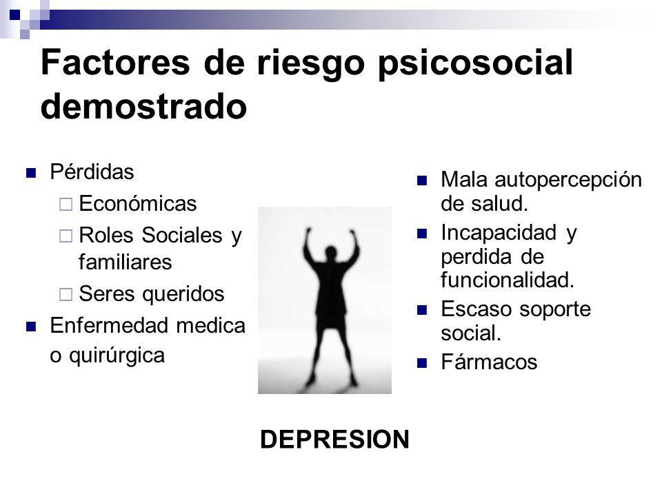 Factores de riesgo psicosocial demostrado
