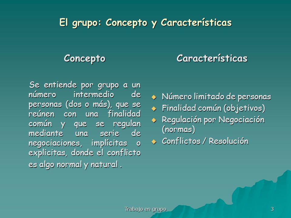 El grupo: Concepto y Características