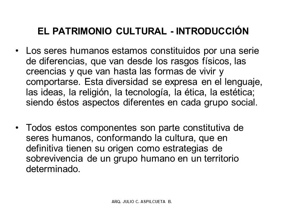 EL PATRIMONIO CULTURAL - INTRODUCCIÓN