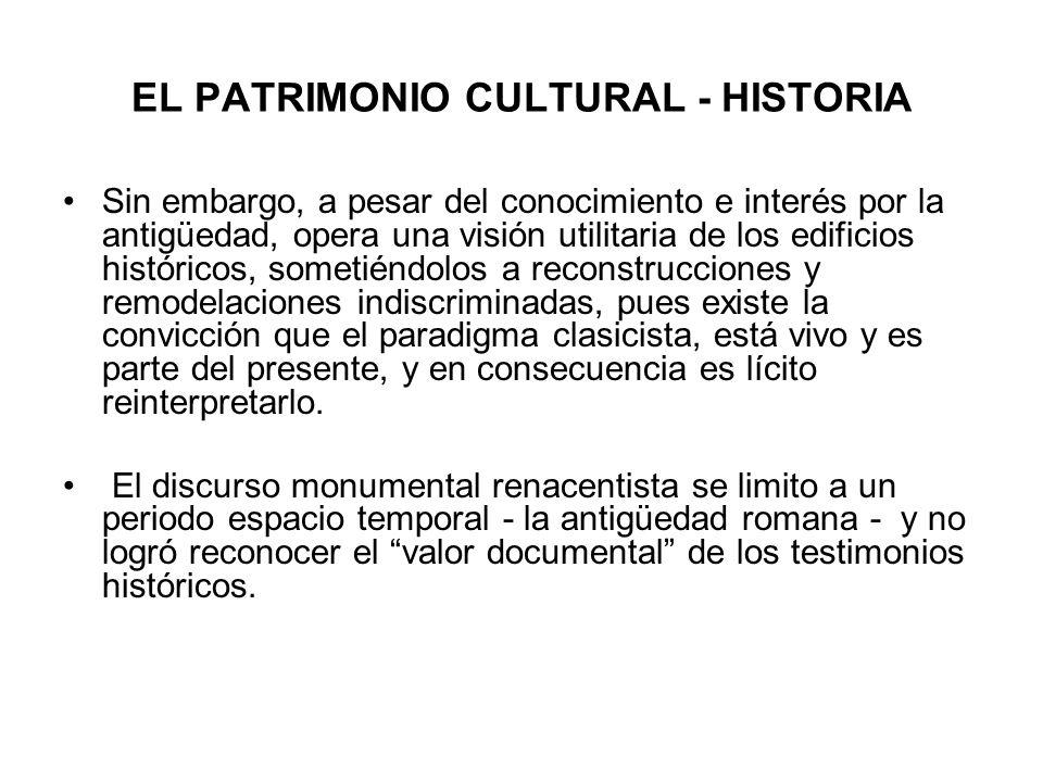 EL PATRIMONIO CULTURAL - HISTORIA