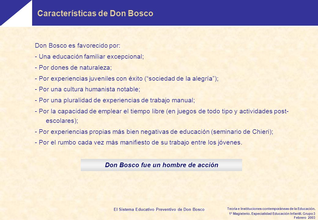 Don Bosco fue un hombre de acción