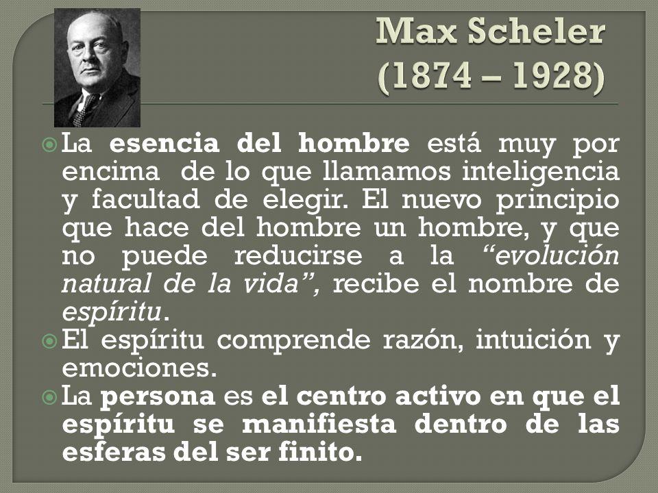 Max Scheler (1874 – 1928)