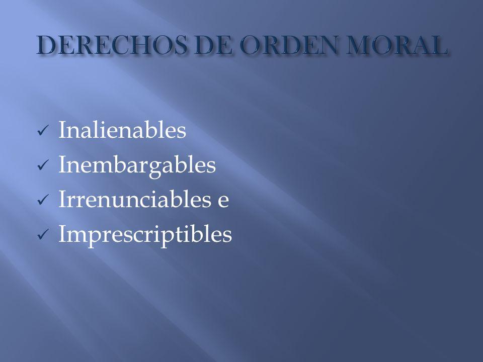 DERECHOS DE ORDEN MORAL