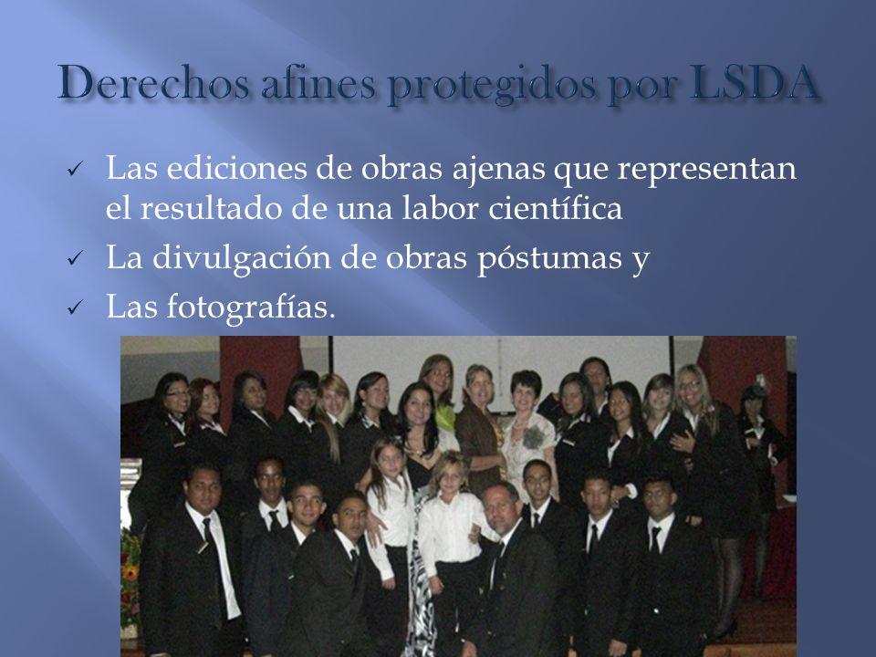 Derechos afines protegidos por LSDA