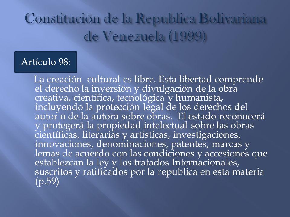 Constitución de la Republica Bolivariana de Venezuela (1999)