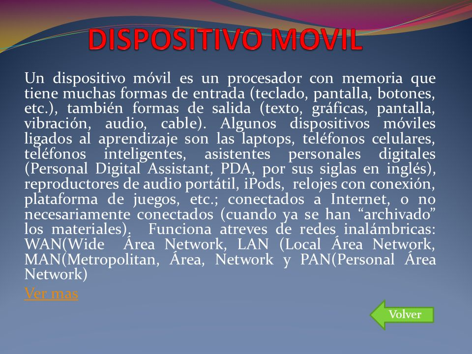DISPOSITIVO MOVIL