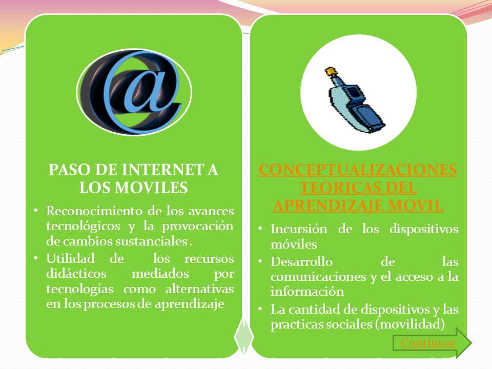 PASO DE INTERNET A LOS MOVILES
