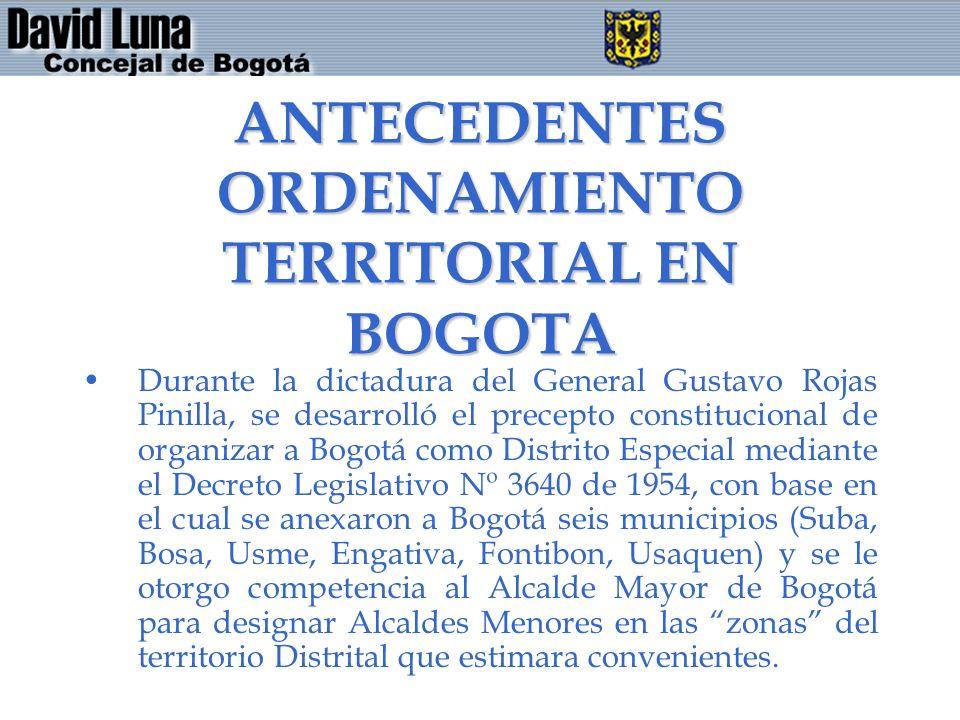 ANTECEDENTES ORDENAMIENTO TERRITORIAL EN BOGOTA