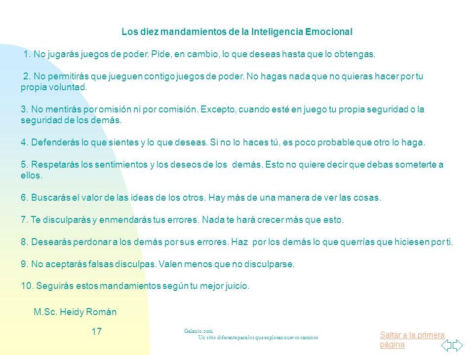 Los diez mandamientos de la Inteligencia Emocional