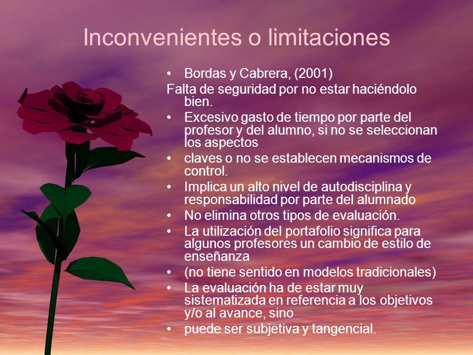 Inconvenientes o limitaciones