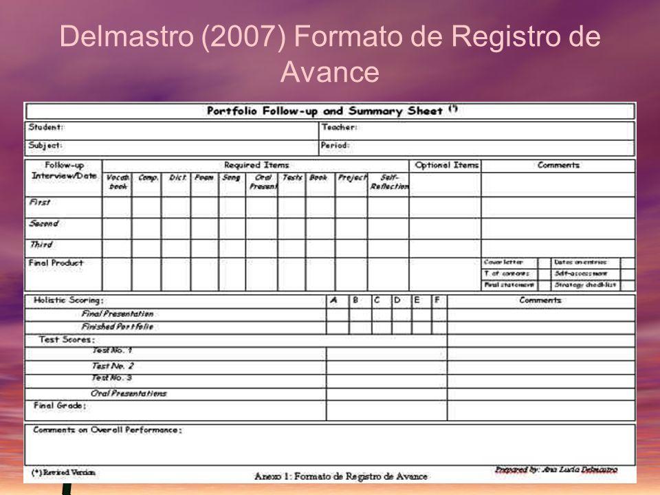 Delmastro (2007) Formato de Registro de Avance