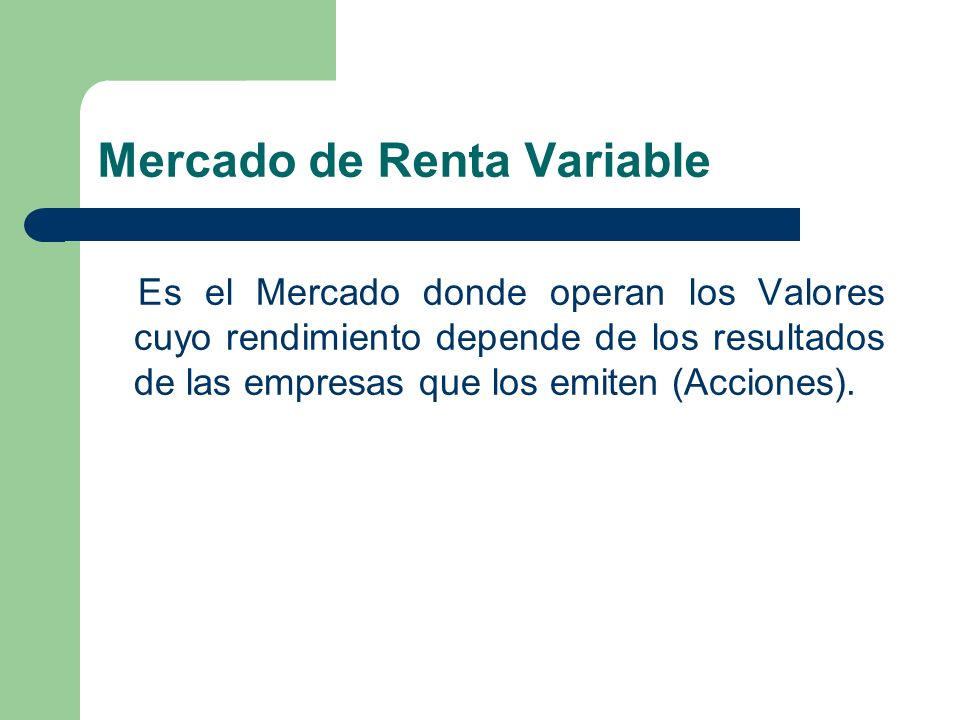 Mercado de Renta Variable