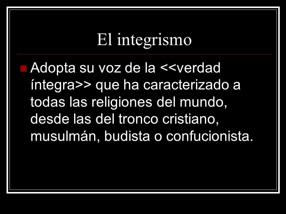 El integrismo
