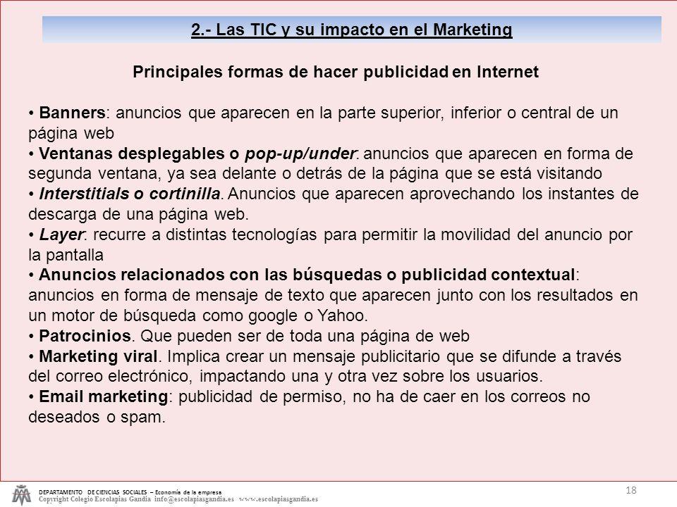 2.- Las TIC y su impacto en el Marketing