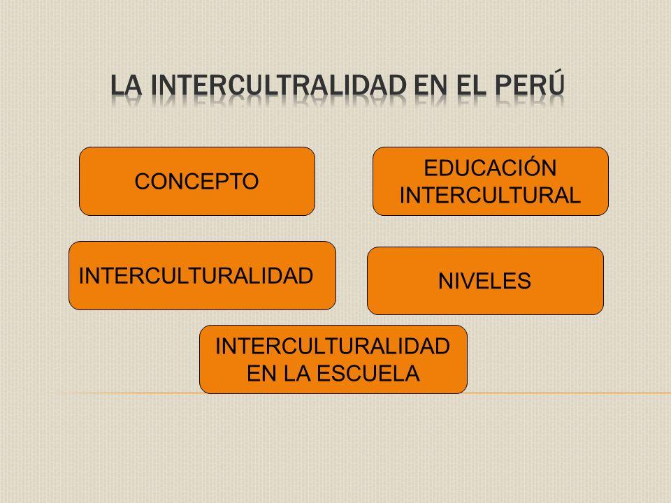 LA INTERCULTRALIDAD EN EL PERÚ