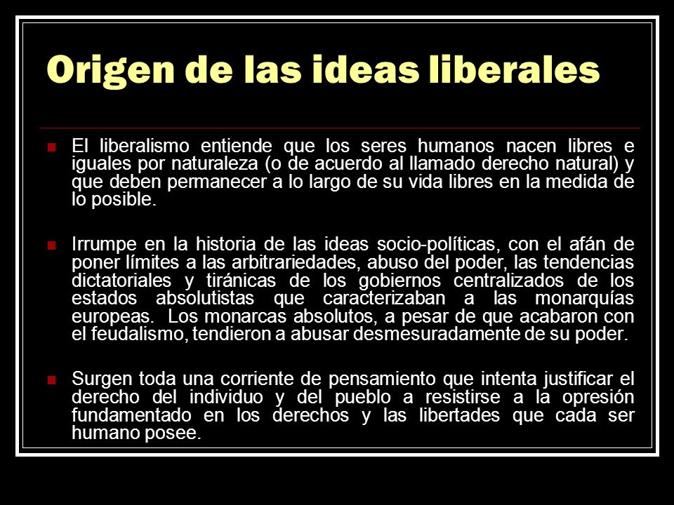 Origen de las ideas liberales
