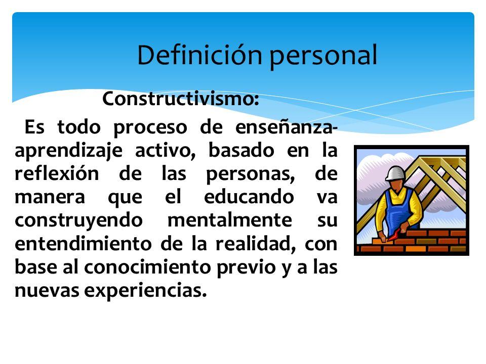 Definición personal Constructivismo: