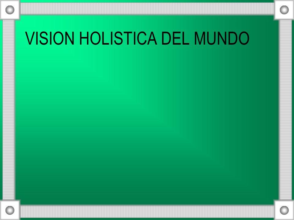 VISION HOLISTICA DEL MUNDO