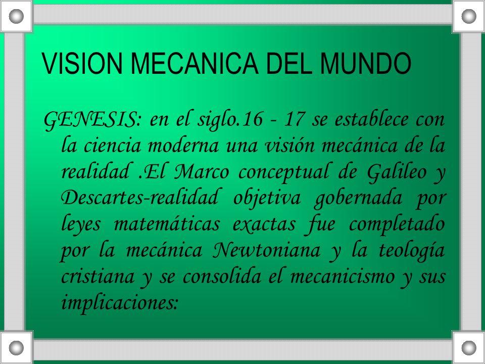 VISION MECANICA DEL MUNDO