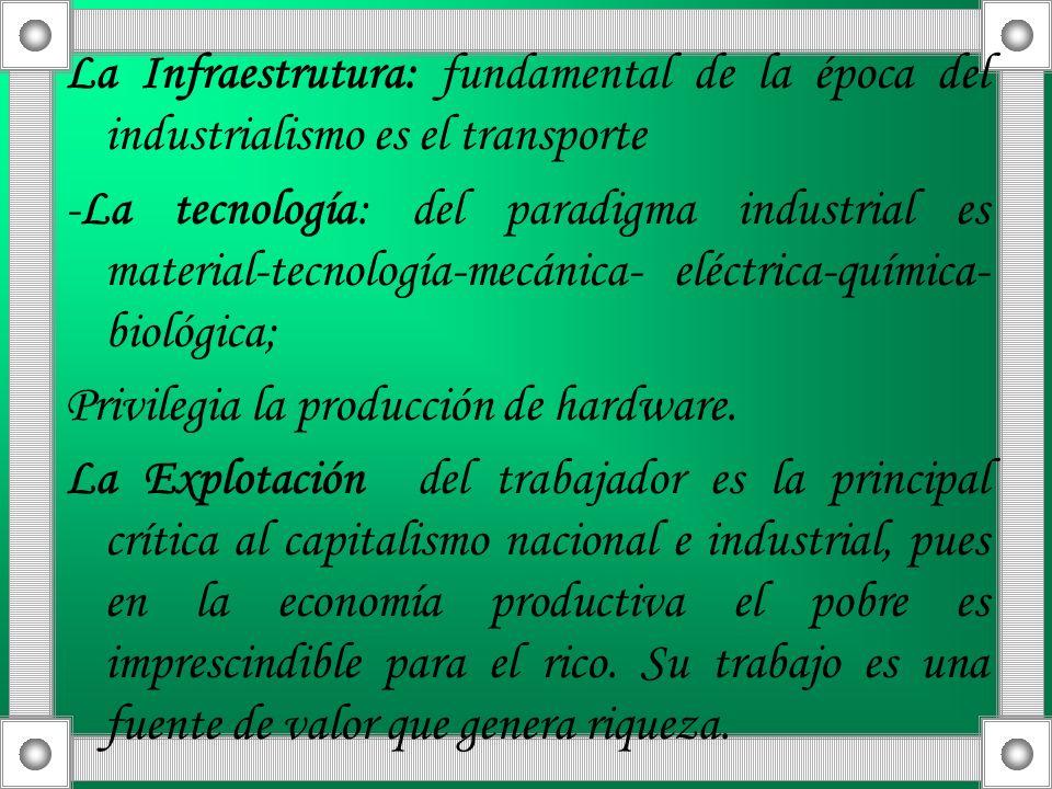 La Infraestrutura: fundamental de la época del industrialismo es el transporte