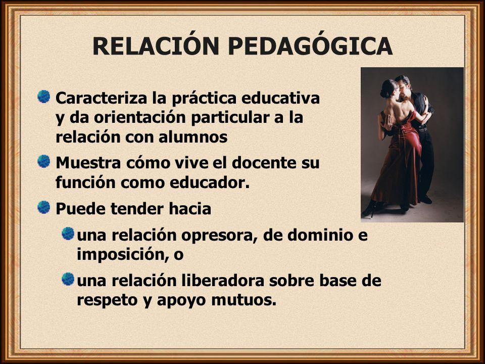 RELACIÓN PEDAGÓGICA