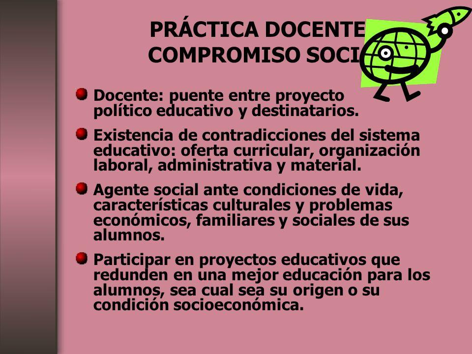 PRÁCTICA DOCENTE Y COMPROMISO SOCIAL