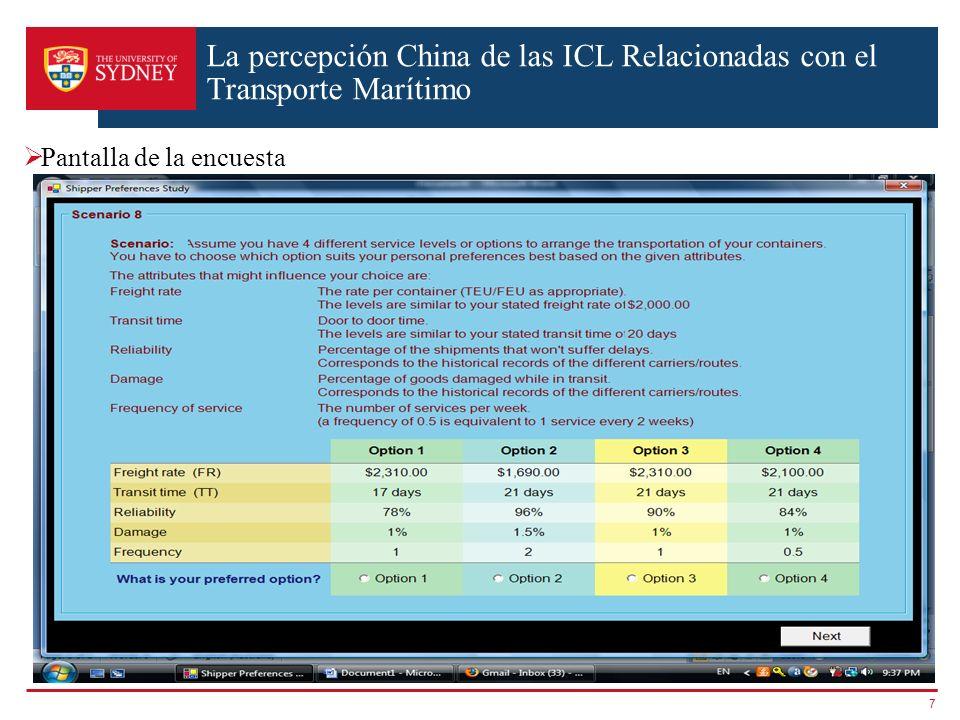 La percepción China de las ICL Relacionadas con el Transporte Marítimo