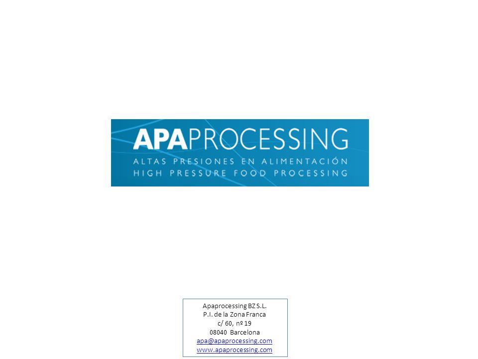 Apaprocessing BZ S.L.P.I.de la Zona Franca. c/ 60, nº 19.