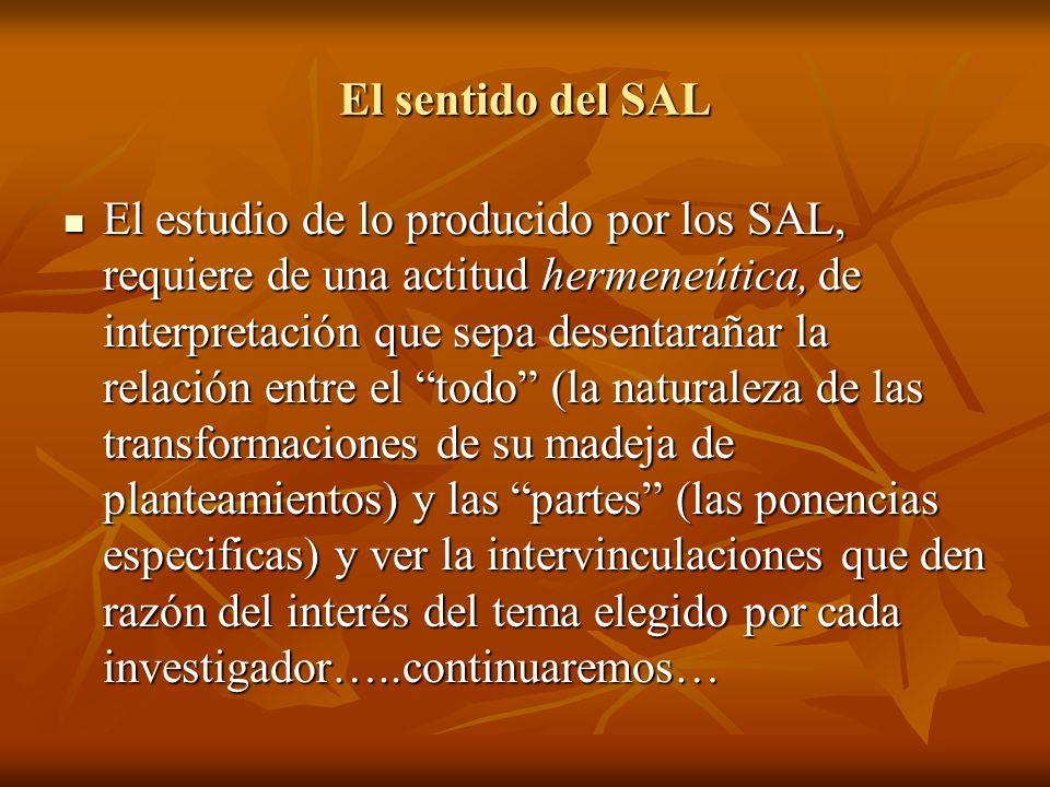 El sentido del SAL