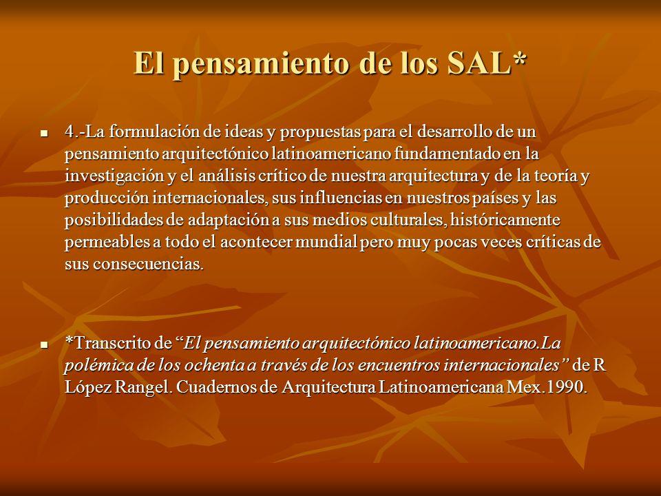 El pensamiento de los SAL*