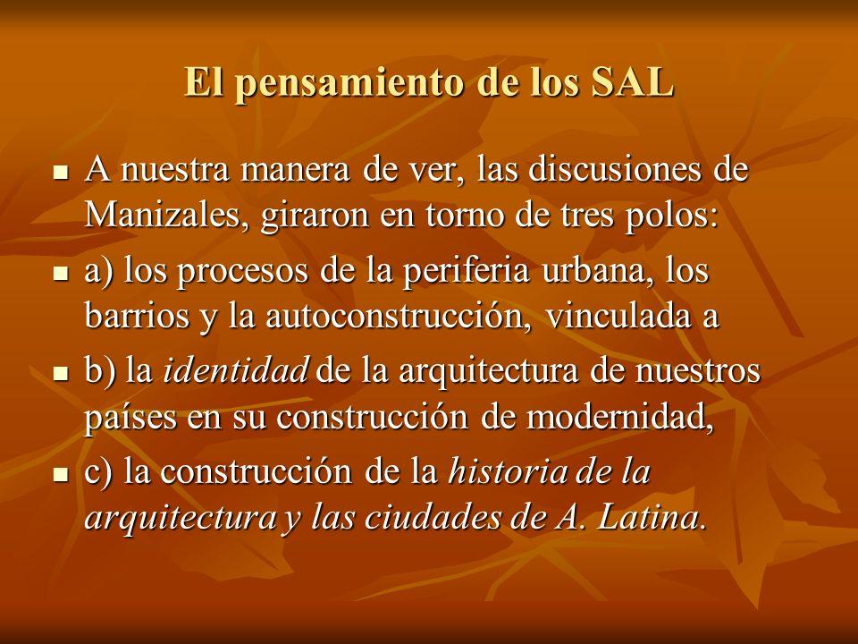 El pensamiento de los SAL