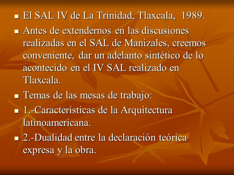El SAL IV de La Trinidad, Tlaxcala, 1989.