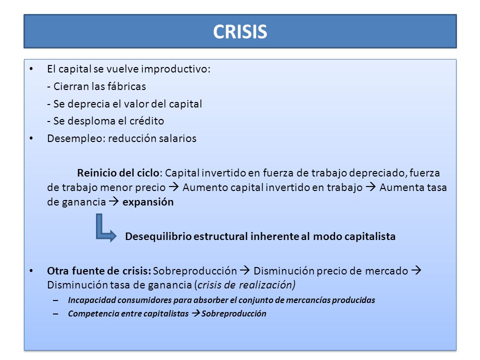 CRISIS El capital se vuelve improductivo: - Cierran las fábricas