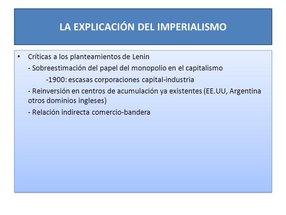 LA EXPLICACIÓN DEL IMPERIALISMO