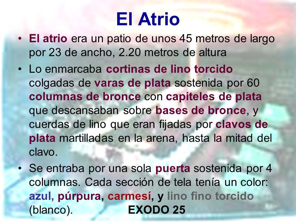 El Atrio El atrio era un patio de unos 45 metros de largo por 23 de ancho, 2.20 metros de altura.