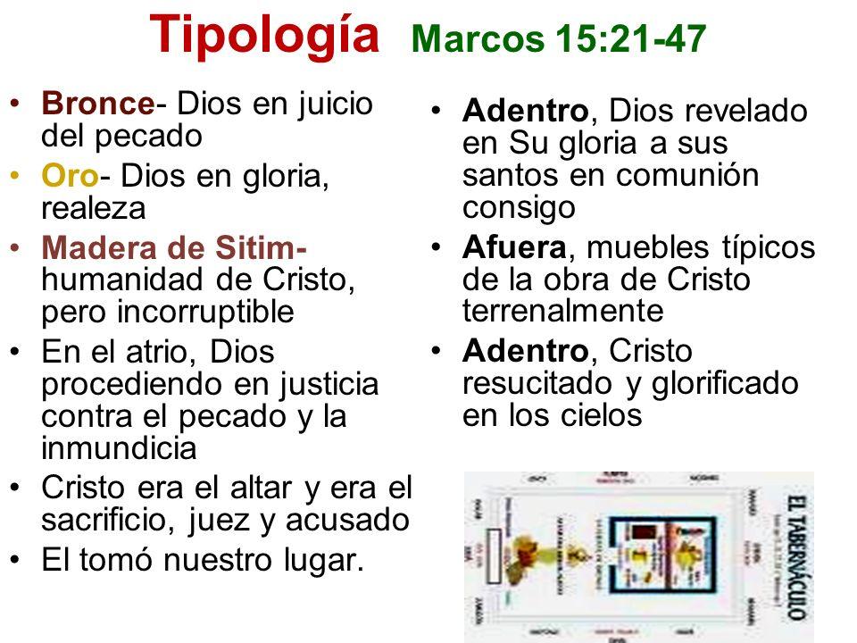 Tipología Marcos 15:21-47 Bronce- Dios en juicio del pecado