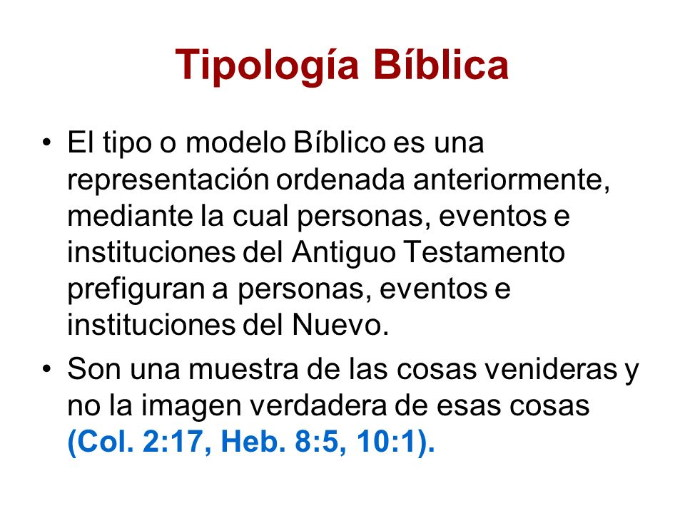 Tipología Bíblica