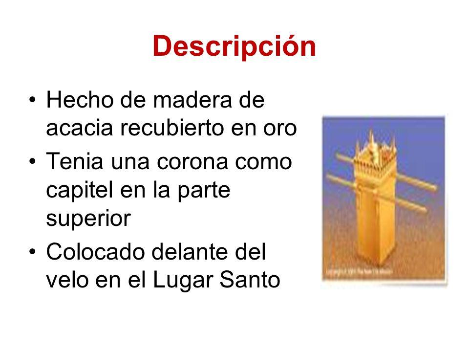 Descripción Hecho de madera de acacia recubierto en oro